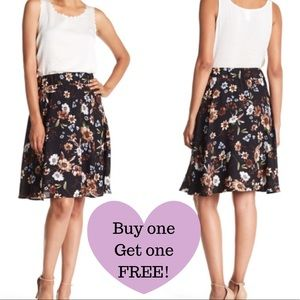 PHILOSOPHY Floral Print Flare Skirt (B008)